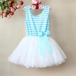 Blue Striped Tutu Dress