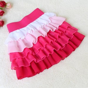 Hot Pink Ruffle Skirt